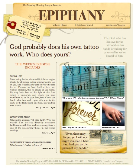 The Monday Morning Exegete Presents 8th Sunday of Epiphany, Cover