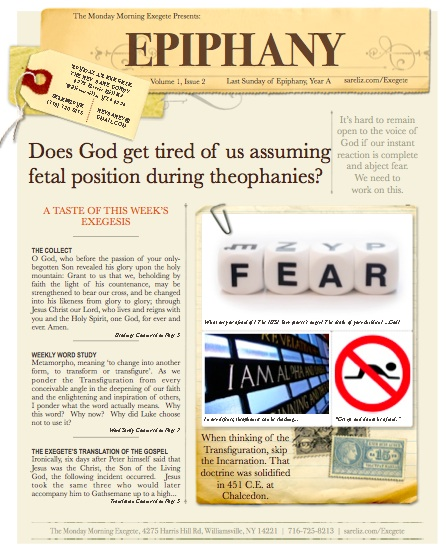 The Monday Morning Exegete Presents the Last Sunday of Epiphany