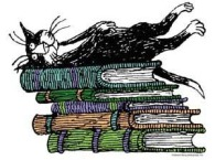 Gorey's cat & books