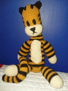 Hobbes looks a little sad, waiting for Michael to come home. Perhaps he needs to snooze.